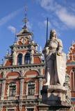 Huis van de Meeëters in Riga Royalty-vrije Stock Fotografie