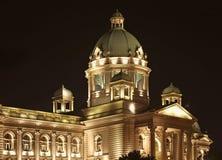 Huis van de Nationale assemblee in Belgrado servië Stock Foto
