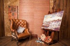 Huis van de schilder Stock Foto's