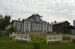 Huis van decembrist in Irkoetsk Stock Foto's