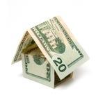 Huis van dollar stock fotografie