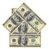 Huis van dollarrekeningen Royalty-vrije Stock Afbeeldingen