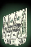 Huis van dollars royalty-vrije stock afbeeldingen