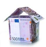 Huis van euro wordt gemaakt die Royalty-vrije Stock Foto