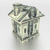 Huis van geld royalty-vrije stock afbeeldingen