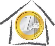 Huis van geld stock illustratie