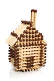 Huis van gelijken wordt gemaakt die Stock Afbeelding