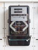 Huis van het de metingshulpmiddel van de wattuur het elektrische meter Stock Afbeeldingen