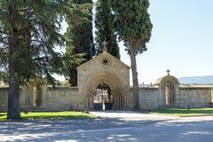 Huis van het klooster van San Juan de Acre, Navarrete Stock Foto