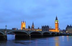 Huis van het Parlement en de Big Ben Stock Afbeeldingen