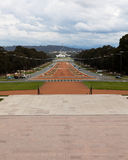 Huis van het Parlement van de Parade ANZAC van de oorlog het Herdenkings in rug Royalty-vrije Stock Fotografie