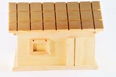 Huis van hout Stock Foto