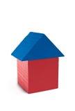 Huis van houten blokken Stock Foto