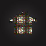 Huis van kleurenpunten die wordt gemaakt Royalty-vrije Stock Fotografie