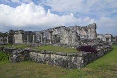 Huis van Kolommen in Tulum royalty-vrije stock foto
