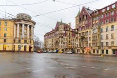 Huis van koopvaardijPolezhaev in Heilige Petersburg, Rusland Stock Fotografie