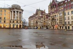 Huis van koopvaardijPolezhaev in Heilige Petersburg, Rusland Royalty-vrije Stock Afbeelding