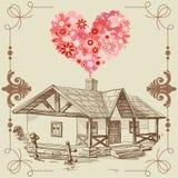 Huis van liefde Royalty-vrije Stock Afbeelding