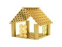 Huis van muntstukken stock illustratie