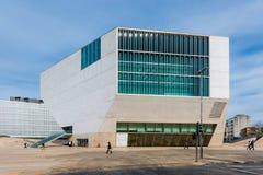Huis van Muziektheater in Porto, Portugal stock foto's