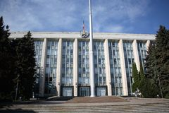 Huis van Overheid in Chisinau, Moldavië Stock Afbeeldingen