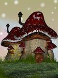 Huis van paddestoelen Stock Afbeelding