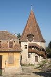 Huis van Roemenië van Sighisoara het traditionele transylvanian royalty-vrije stock afbeelding