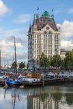 Huis van Rotterdam Witte Stock Afbeeldingen