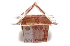 Huis van Russische bankbiljetten Royalty-vrije Stock Foto