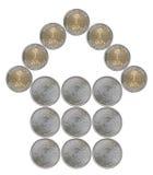 Huis van Saoediger wordt gemaakt - Arabische muntstukken dat Royalty-vrije Stock Fotografie