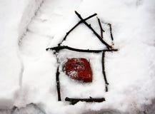 Huis van stokken Stock Foto