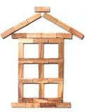Huis van stukken van hout Royalty-vrije Stock Afbeelding