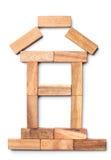 Huis van stukken van hout Royalty-vrije Stock Afbeeldingen