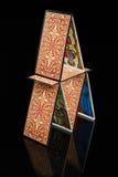Huis van tarots Royalty-vrije Stock Afbeeldingen