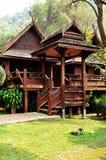 Huis van Thaise stijl Lanna Royalty-vrije Stock Fotografie