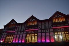 Huis van viooltjes stock afbeeldingen