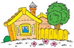 Huis (vector klem-kunst) royalty-vrije illustratie
