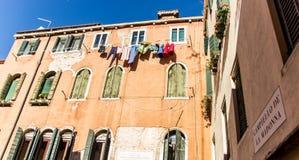 Huis in Venetië, Italië Royalty-vrije Stock Foto