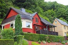 Huis in Vianden, Luxemburg Stock Afbeelding