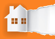 Huis voor het malplaatje van de verkoopreclame Royalty-vrije Stock Afbeelding