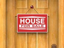 Huis voor Onroerende goederen verkoop, Huis, Deur royalty-vrije stock afbeelding