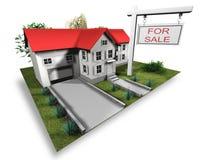Huis voor verkocht Royalty-vrije Stock Afbeelding