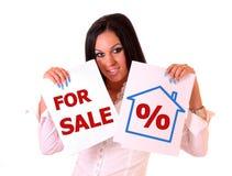 Huis voor verkoop stock afbeeldingen