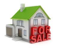 Huis voor verkoop. royalty-vrije illustratie