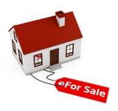 Huis voor verkoop Stock Afbeelding