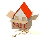 Huis voor verkoop royalty-vrije stock foto's