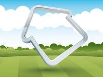 Huis-vormig frame in het platteland Stock Afbeelding