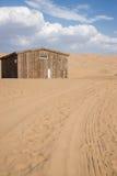 Huis in woestijn Royalty-vrije Stock Fotografie