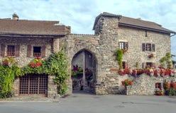Huis in Yvoire stock foto's