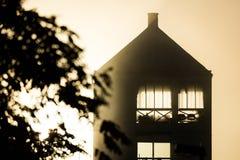 Huis in zacht licht Royalty-vrije Stock Foto's